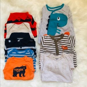 3 months baby boy bundle footies and body's